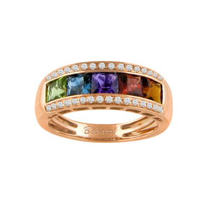 BELLARRI Eternal Love - Rose Gold / Multi Color Gemstone Ring