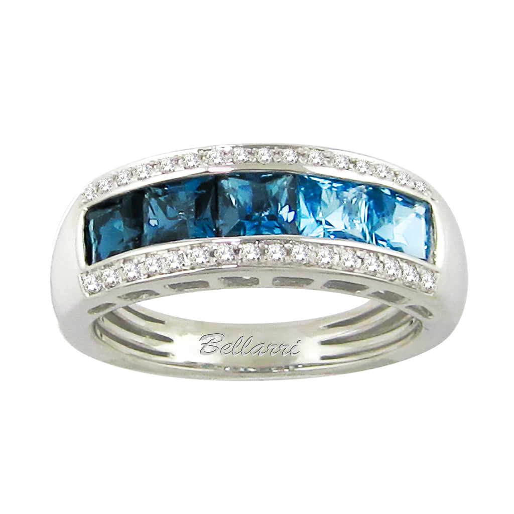 BELLARRI Eternal Love - Ring (White Gold / Blue Topaz / Diamonds)