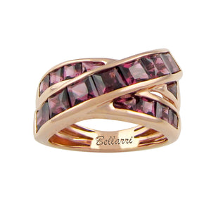 BELLARRI Eternal Love - Ring (Rose Gold / Rhodolite). Approximately 10mm at it's widest point.