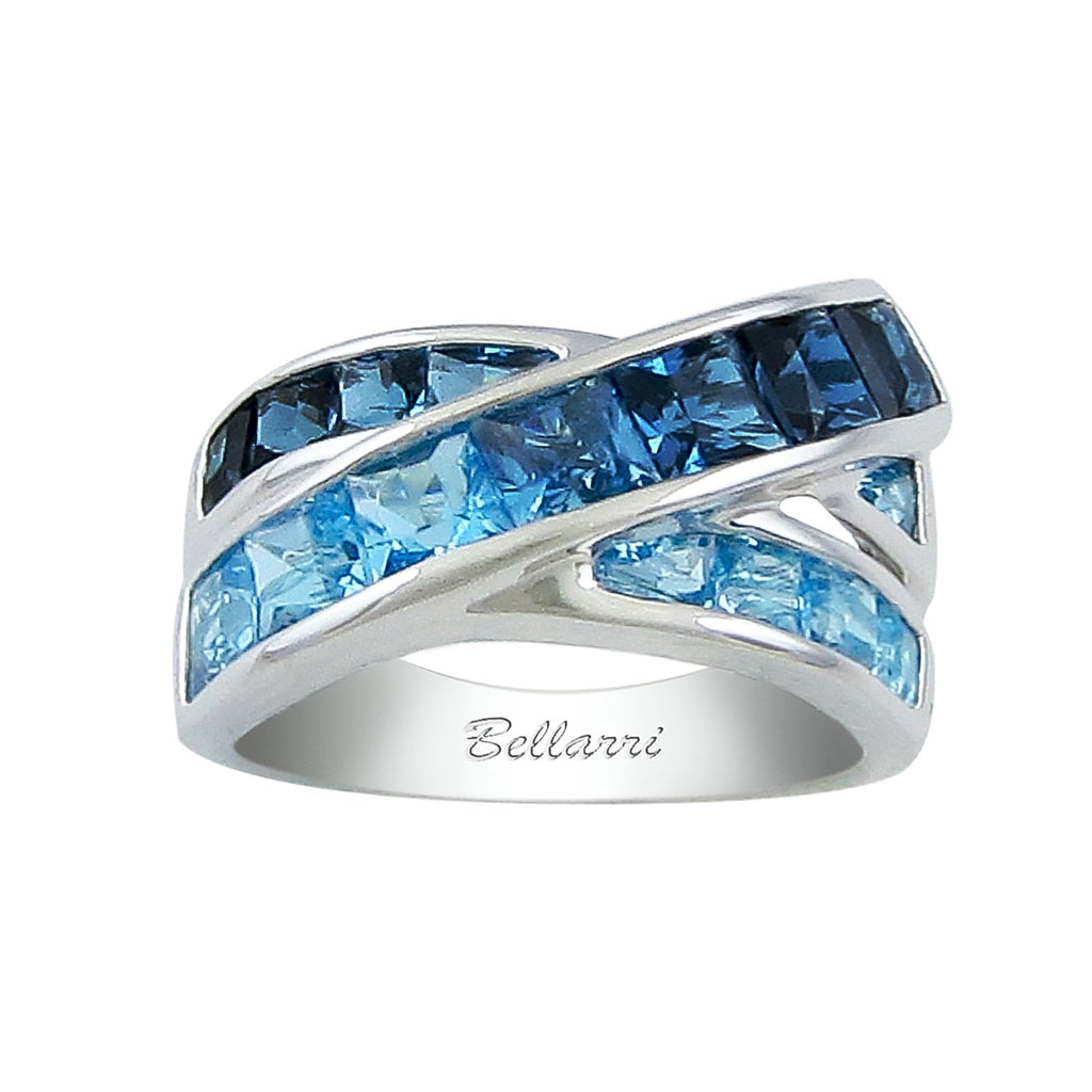 BELLARRI Eternal Love - White Gold / Blue Topaz Ring
