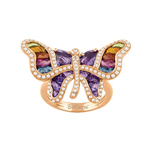 BELLARRI Madame Butterfly - Ring (Multi Color / Rose Gold)