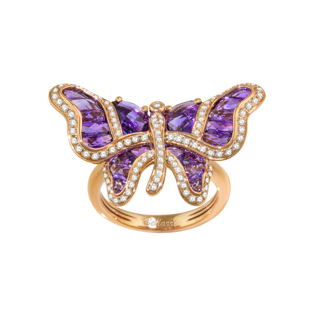 BELLARRI Madame Butterfly - Ring (Amethyst and Diamonds)