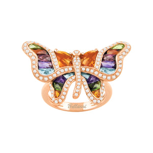 BELLARRI Madame Butterfly - Ring (Multi Color / Diamonds/ Rose Gold)