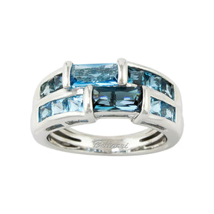 BELLARRI Marquesa - Ring (14kt White Gold / Blue Topaz)