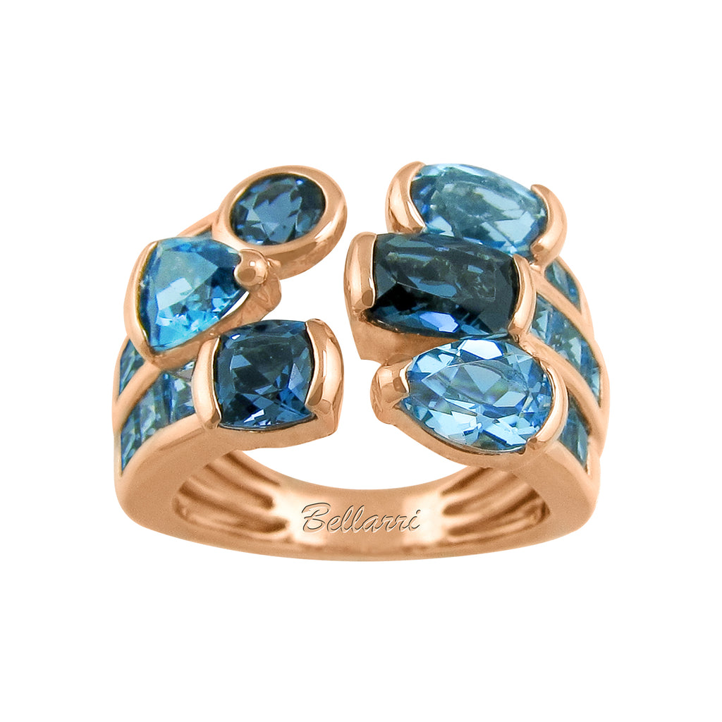 BELLARRI Capri - Blue Topaz Ring (Rose Gold)