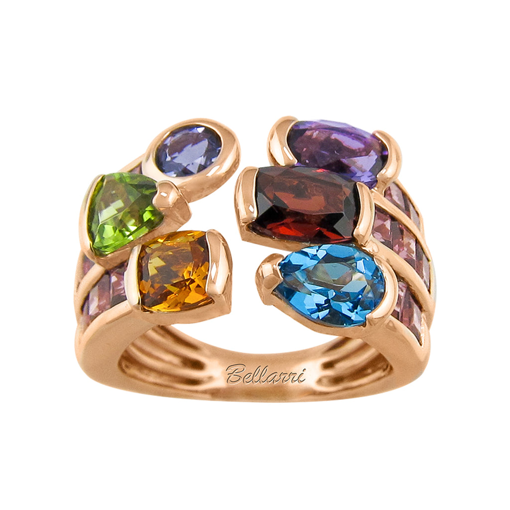 BELLARRI Capri - Multi Color Ring - From the 'CAPRI COLLECTION' the ring set in 14kt Rose Gold