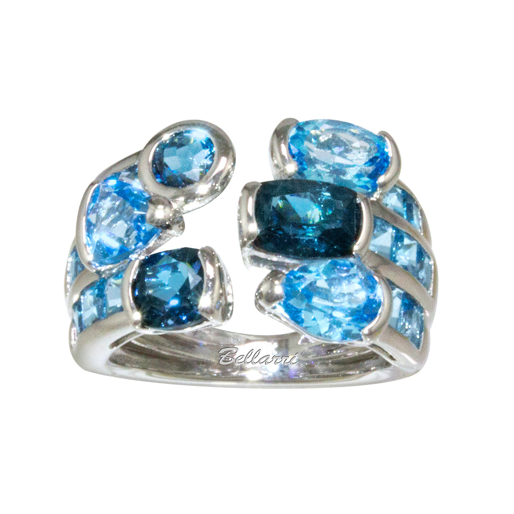BELLARRI Capri - Blue Topaz Ring (White Gold)