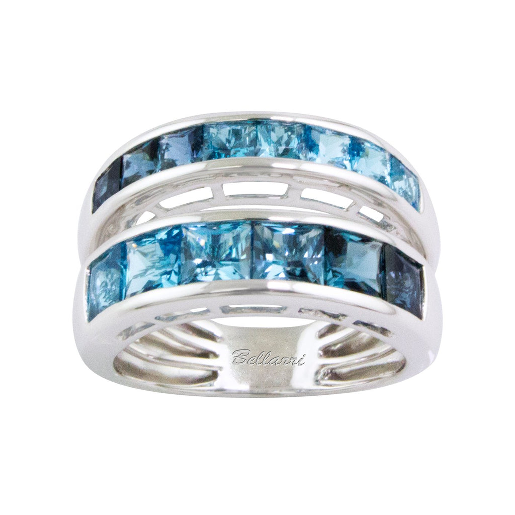 BELLARRI Eternal Love Ring - White Gold / Blue Topaz
