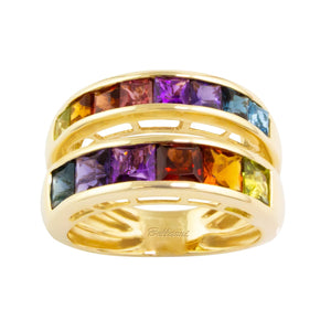 BELLARRI Eternal Love - Ring (Rose Gold / Multi Color Gemstone)
