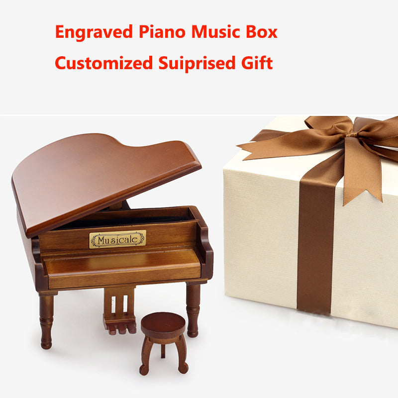Engraved Piano Music Box - Candyhousehold