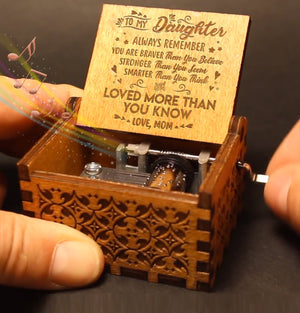 Mom To Daughter - You Are Loved More Than You Know - Engraved Music Box - Candyhousehold