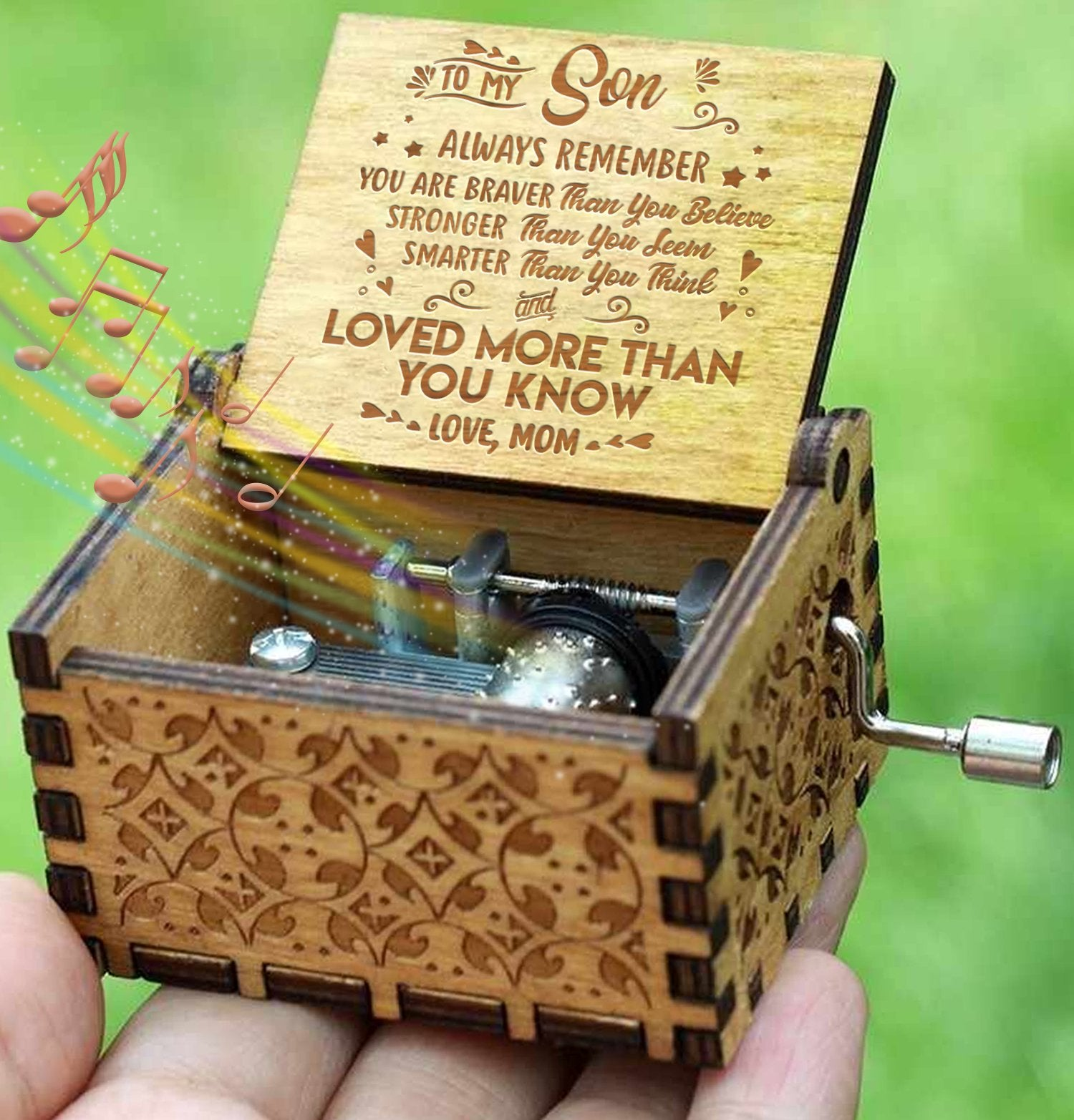Mom To Son - You Are Loved More Than You Know - Engraved Music Box - Candyhousehold