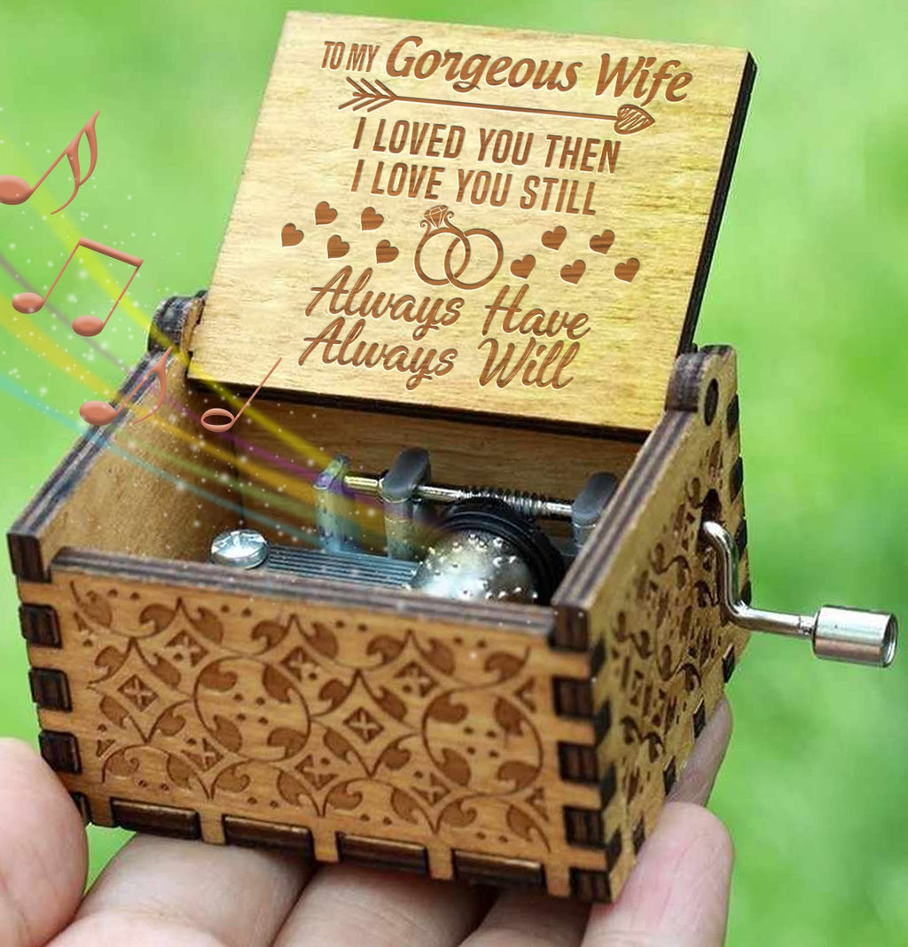 To My Wife - Engraved Music Box - Candyhousehold
