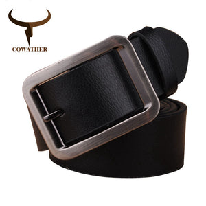 COWATHER 2017 new 99% Genuine leather men belts for Men male strape winter jeans belt cinto masculino 110-125cm original brand