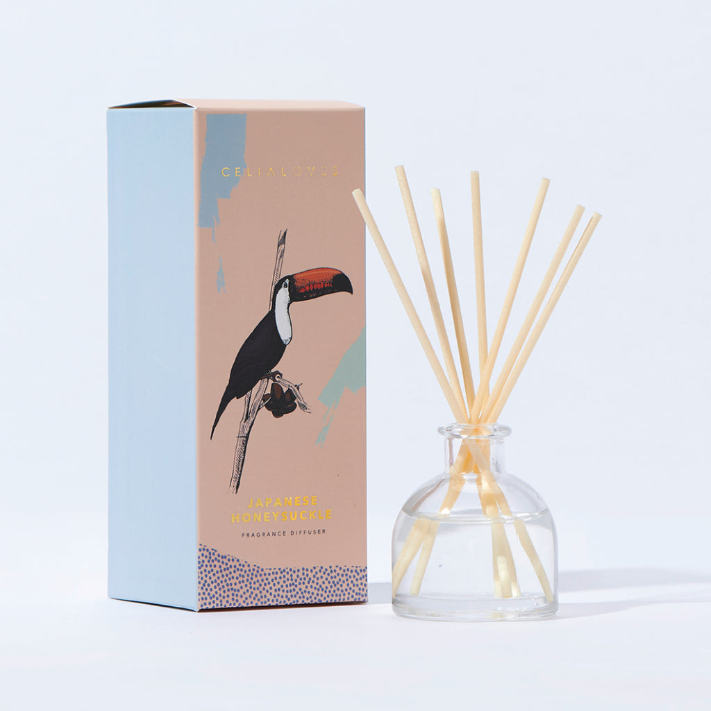 PRE ORDER Japanese Honeysuckle Mini Frangranced Diffuser