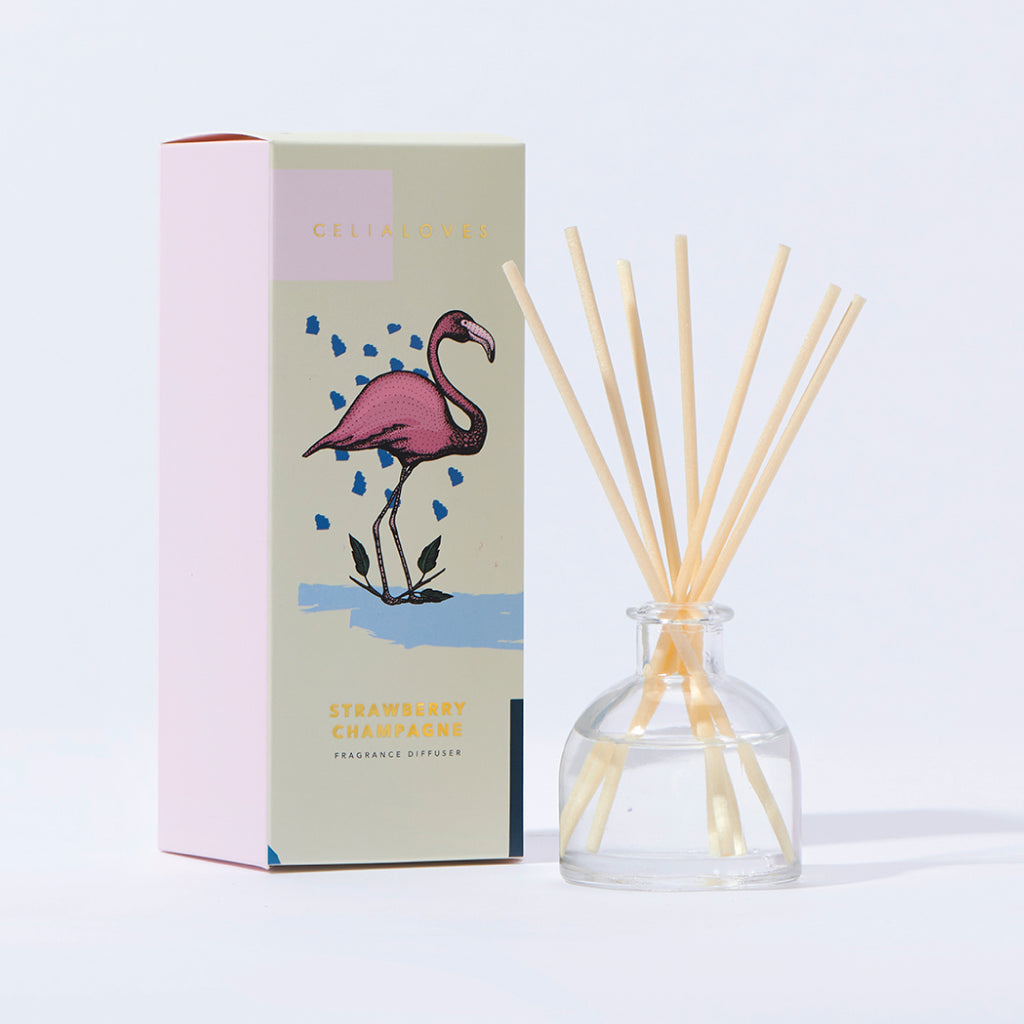 Strawberry Champagne Mini Fragranced Diffuser