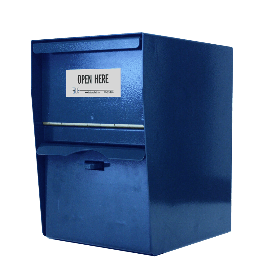 Unmanned Secure Locking Drop Box - Blue