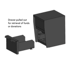 Secure Unmanned Locking Drop Box Design with Drawer Out