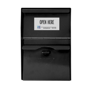 Secure Locking Drop Box 12 - Black