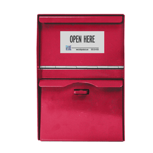 Unmanned Secure Locking Drop Box - Red