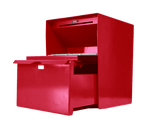 Large Secure Unmanned Locking Drop Box with Drawer Open