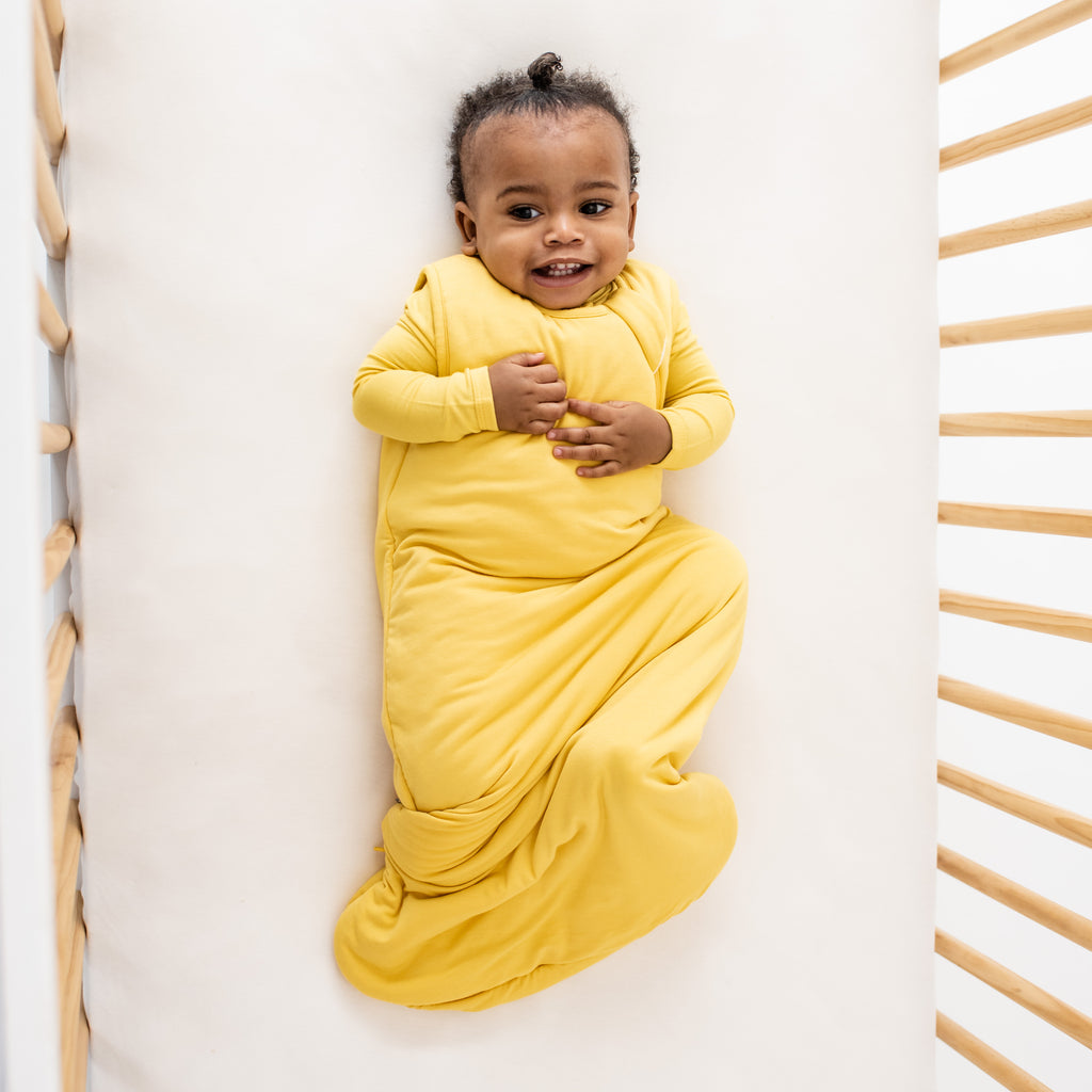 Baby in Yellow Sleep Bag