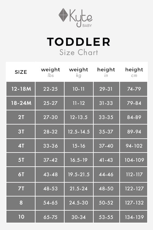 Toddler Size Chart