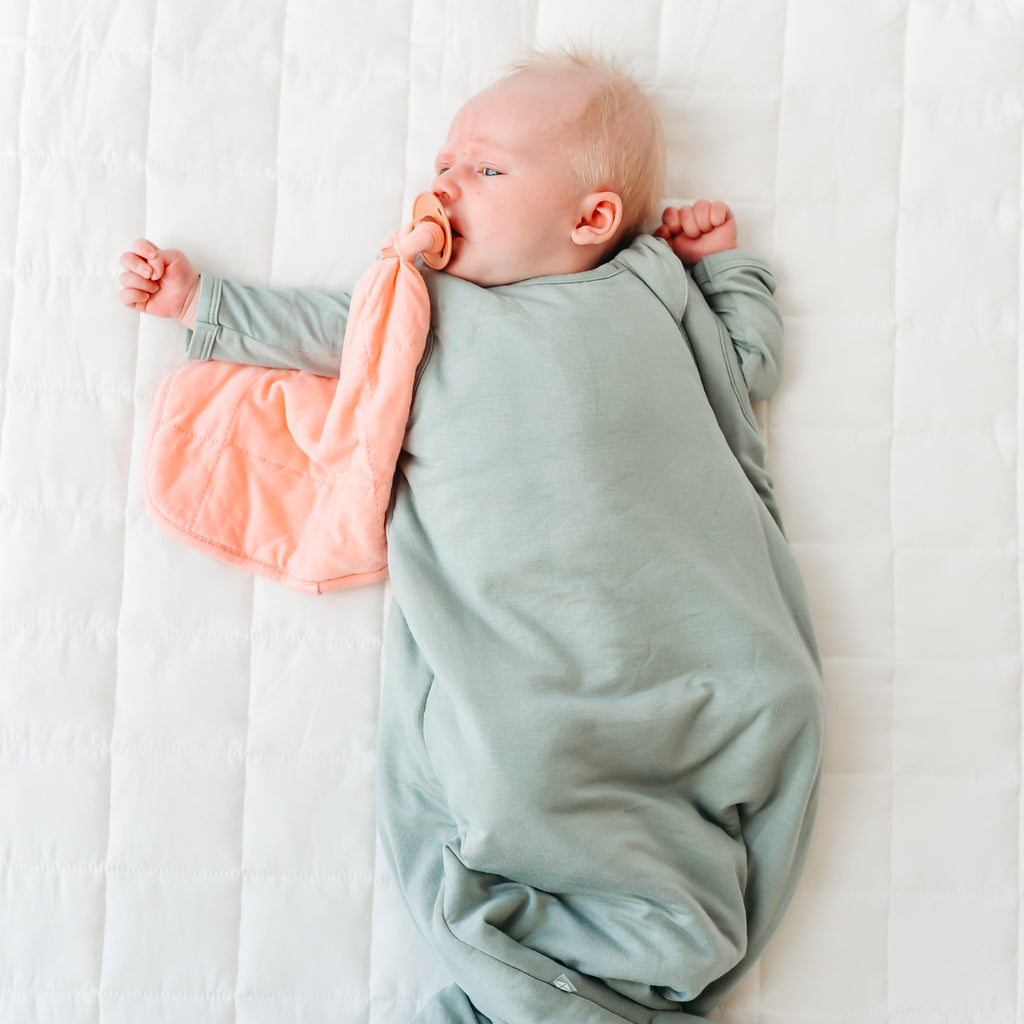 bamboo sleep bag with lovey