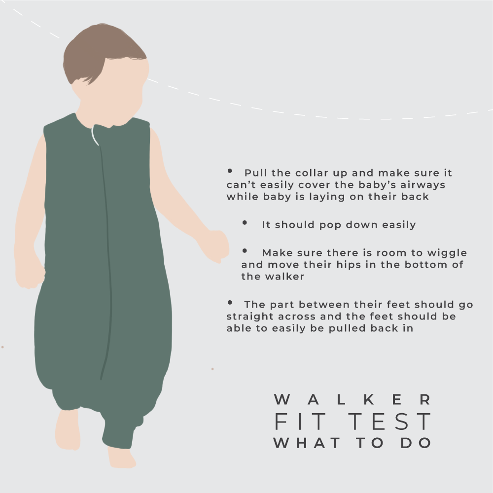 sleep bag walker fit test