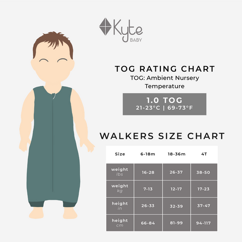Sleep Bag Walker Size Chart