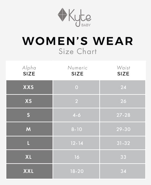 Women's Wear Size Chart