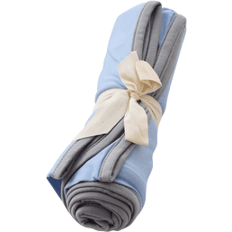Swaddle Blanket in Sky with Graphite Trim - Kyte BABY