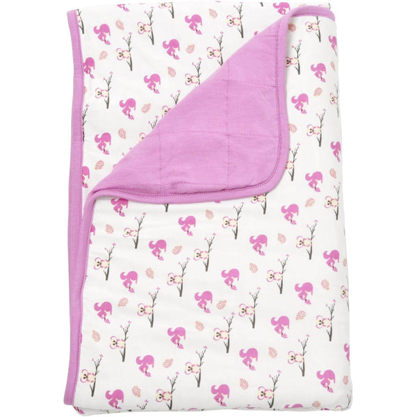 Printed Baby Blanket in Blossom/Park - Kyte Baby