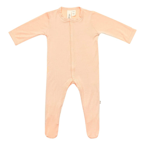 Early Access Layette Footie in Papaya