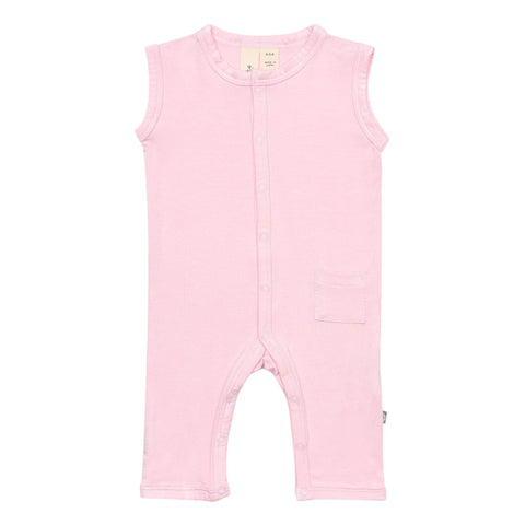 Early Access Layette Sleeveless Romper in Peony