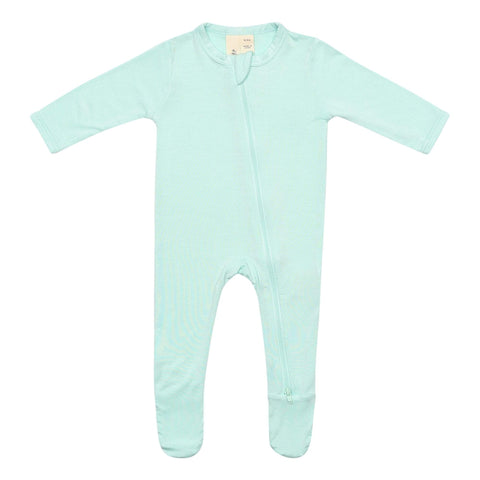 Early Access Layette Zippered Footie in Sea Mist