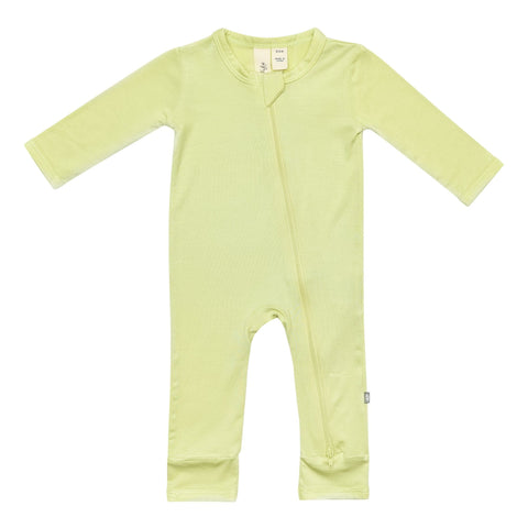 Early Access Layette Zippered Romper in Kiwi