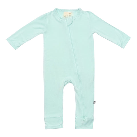 Early Access Layette Zippered Romper in Sea Mist