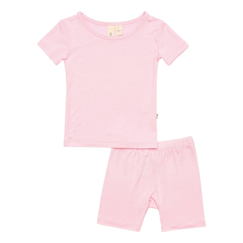 Early Access Toddler Pajama Short Sleeve Toddler Pajama Set in Peony