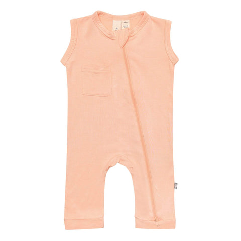 Early Access Zippered Sleeveless Romper Zipper Sleeveless Romper in Papaya
