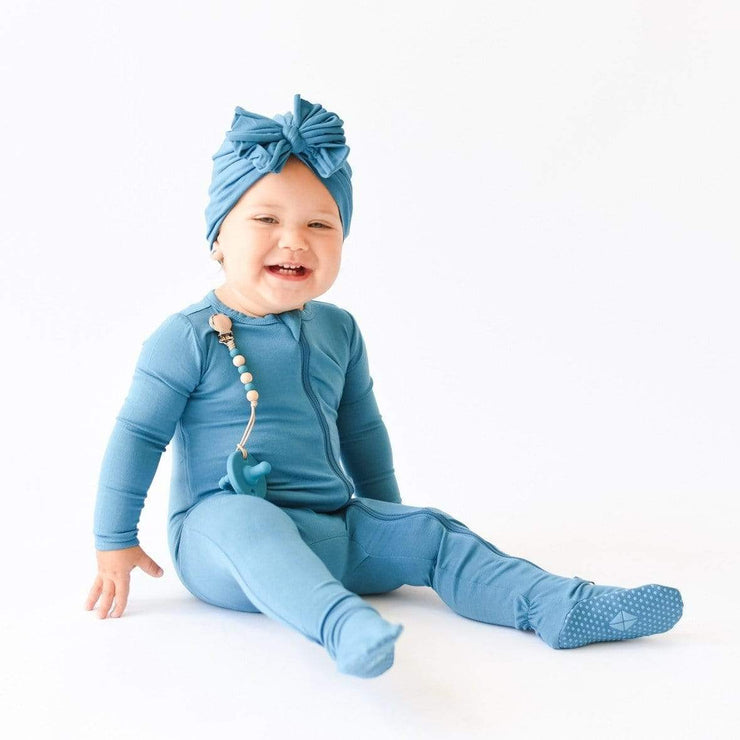 Bunny Knots in Teal Raga Style - Kyte Baby