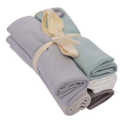 Solid Washcloth Combo 5-Pack in Neutral - Kyte Baby