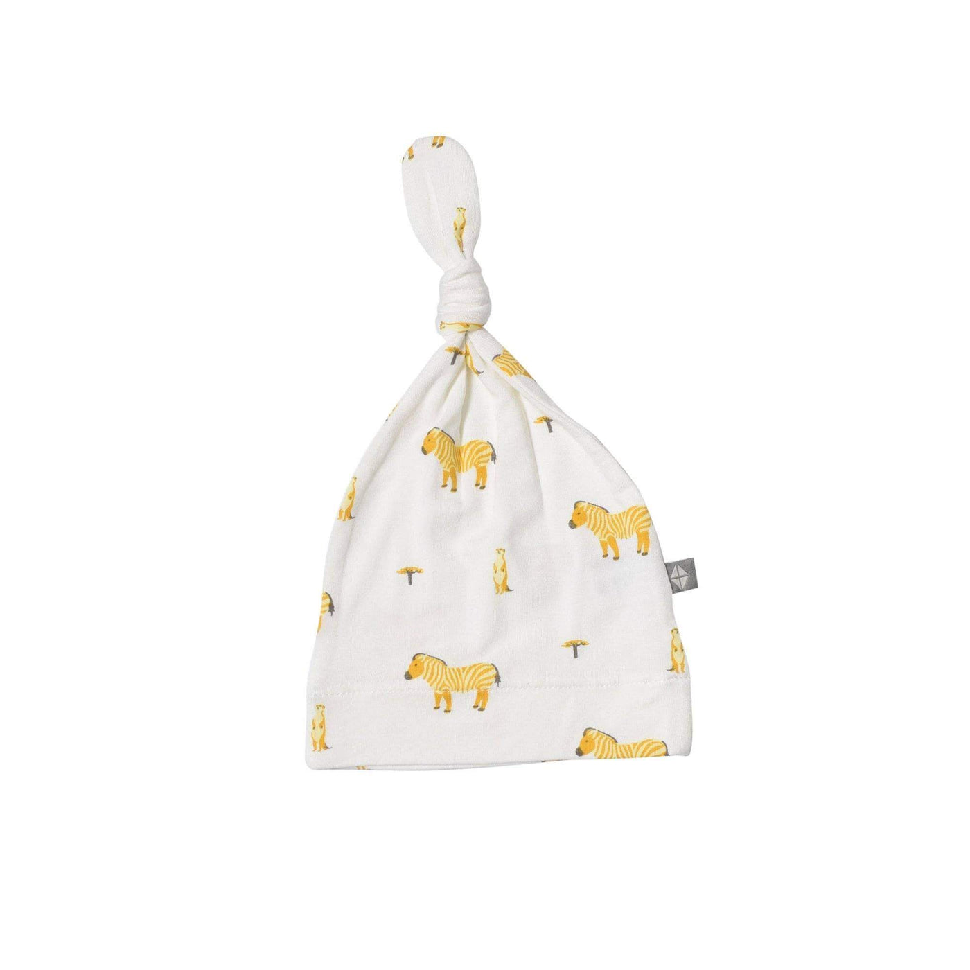 Kyte BABY Accessory Printed Knotted Cap in Savanna