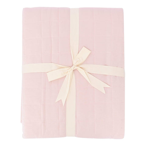 Adult Quilted Blanket in Blush - Kyte Baby