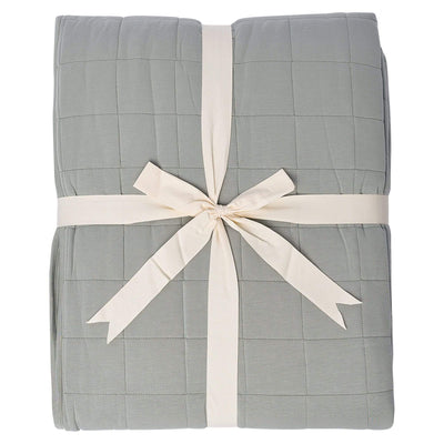 Adult Quilted Blanket in Moss - Kyte Baby