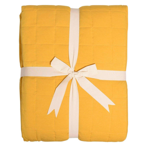 Adult Quilted Blanket in Mustard - Kyte Baby