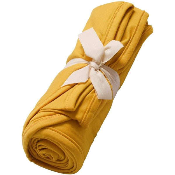 Kyte BABY Blanket Mustard / Infant Swaddle Blanket in Mustard