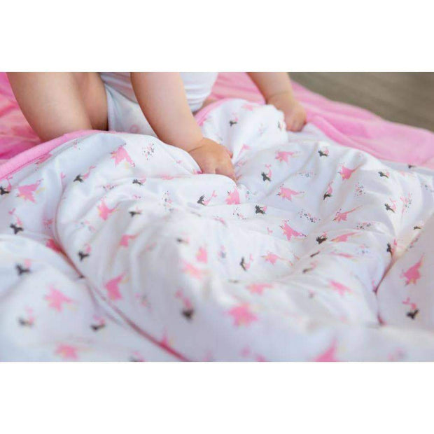 Printed Baby Blanket in Petal/Mythical - Kyte Baby