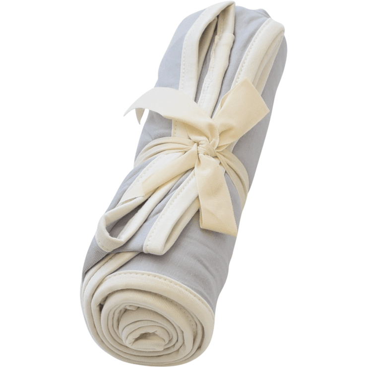 Swaddle Blanket in Storm with Cloud Trim - Kyte Baby