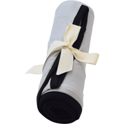 Kyte BABY Blanket Storm with Midnight Trim / Infant Swaddle Blanket in Storm with Midnight Trim